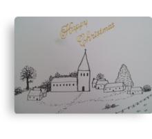 Christmas Church 1 Canvas Print