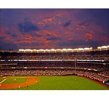 Sunset at Yankee Stadium Photographic Print