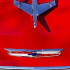 1955 Chevrolet Belair Nomad Hood Ornament 2 by Jill Reger