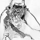 Gorilla Drawing 2 by WoolleyWorld