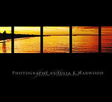Sunset on black ~ Signature Series by Julia Harwood