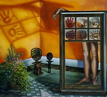 The Window, oil on canvas, 2000 by fiona vermeeren