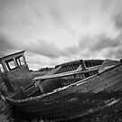 Monochrome Boat by Norfolkimages