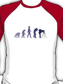 Purple Photographer Evolution T-Shirt
