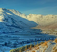 A Winter's Day in Langdale by Jamie  Green