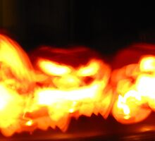 Abstract Flickering Jack-O-Lanterns by Ryan Harvey