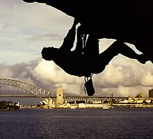 Climber, Balls head, Sydney  by Andy Townsend