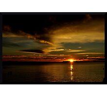 Westbrook, CT Sunset November 2010 Photographic Print