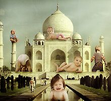 """""""Jelly Babies ascent on the Taj Mahal......""""  by atomikboy"""