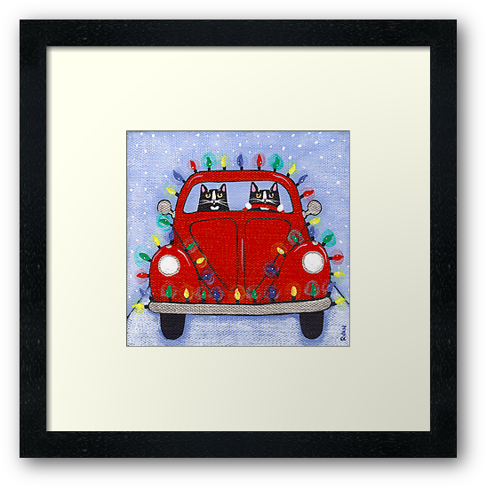 Festive Lights Red Bug by Ryan Conners