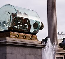 Nelson's Ship (in a bottle) in Trafalgar Square by SpencerCopping