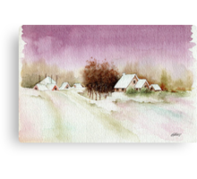 A BEAUTIFUL WINTER - AQUAREL Canvas Print
