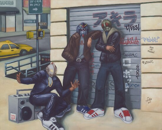 3 Heroes and a Boombox by ninjaforhire