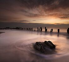Dawn At Spurn point by SteveMG