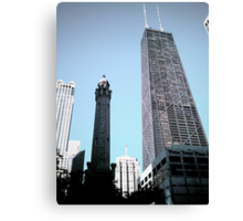 Standing in the Shadows of Giants on Michigan Ave. Canvas Print