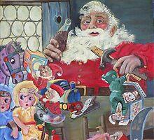 Coke Santa by Mikki Alhart