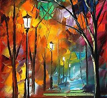 DARKNESS - Original Art Oil Painting By Leonid Afremov by Leonid  Afremov