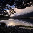 Mavora Lakes, Sunset by Michael Treloar
