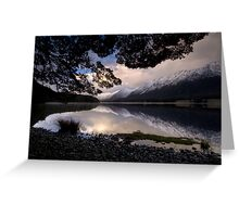 Mavora Lakes, Sunset Greeting Card
