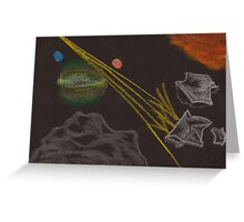 Asteroid Mining Greeting Card