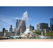 Chicago Skyline and Buckingham Fountain Photographic Print