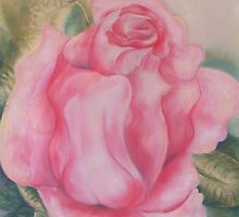 The Rose - illusion painting by Cheryl White