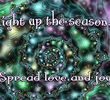 Light Up the Season Card by rocamiadesign