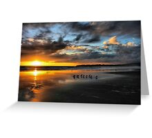 Sunset at Stinson Greeting Card