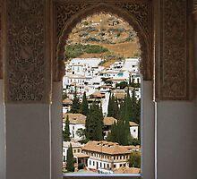 Looking out on Granada, La Alhambra by mochamocha