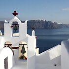 Red Church, Oia, Santorini by Leah Gay