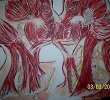 Kissing (Lg) by surealist88212
