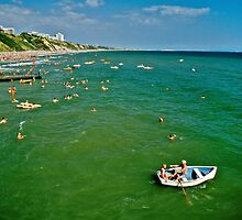 Seaside fun, Bournemouth, UK 1980s by David A. L. Davies