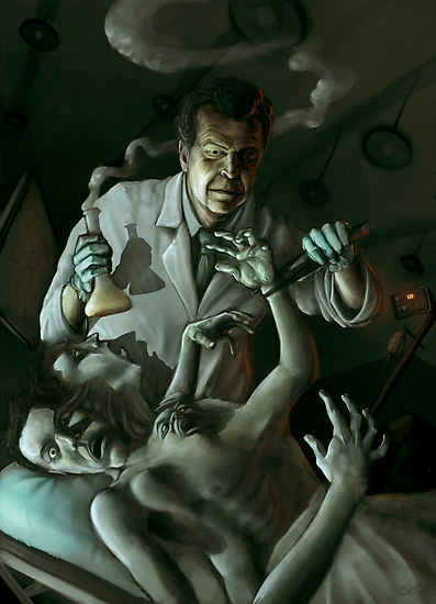 Walter Bishop and the Patient by Sean Cruz