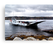 Cable Ferry LeHave River Canvas Print