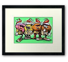 Christmas Cupcakes Framed Print