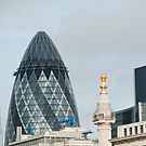 The Monument & Gherkin: Lonon, UK. by DonDavisUK