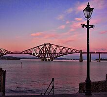 Sunset Over The Forth by Lynne Morris