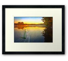 Summer morning silence Framed Print