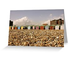 Beach Hut Row - Brighton Greeting Card
