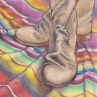 Boots and Navajo Blanket by Katherine Thomas