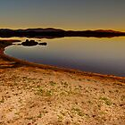 Sunset at Embalse de Ayuela by Gabor Pozsgai