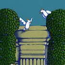Birdies Wall Topiary walk in the Park Colour by Donnahuntriss
