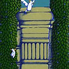 Birdies in the park (larger version) by Donna Huntriss
