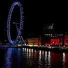 London eye at night by Dean Messenger