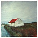 red roof at Baile-share, N Uist by Helen Suzanne Sharratt