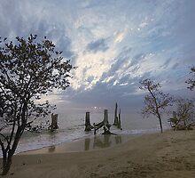 On the beach. by Gouzelka