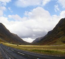 entering Glencoe, Highlands by BronReid