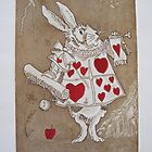 White Rabbit - Alice - Tribute to John Tenniel by Denise Martin