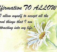 Affirmation TO ALLOW by Maree  Clarkson