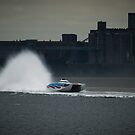 """No 96 making a Splash"" - Powerboats by Sophie Lapsley"